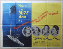 Don't Go Near the Water, Original UK Quad Poster, Glenn Ford, Gia Scala, '57